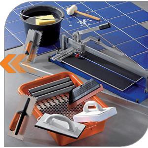 найдите плиточника с полным комплектом инструмента